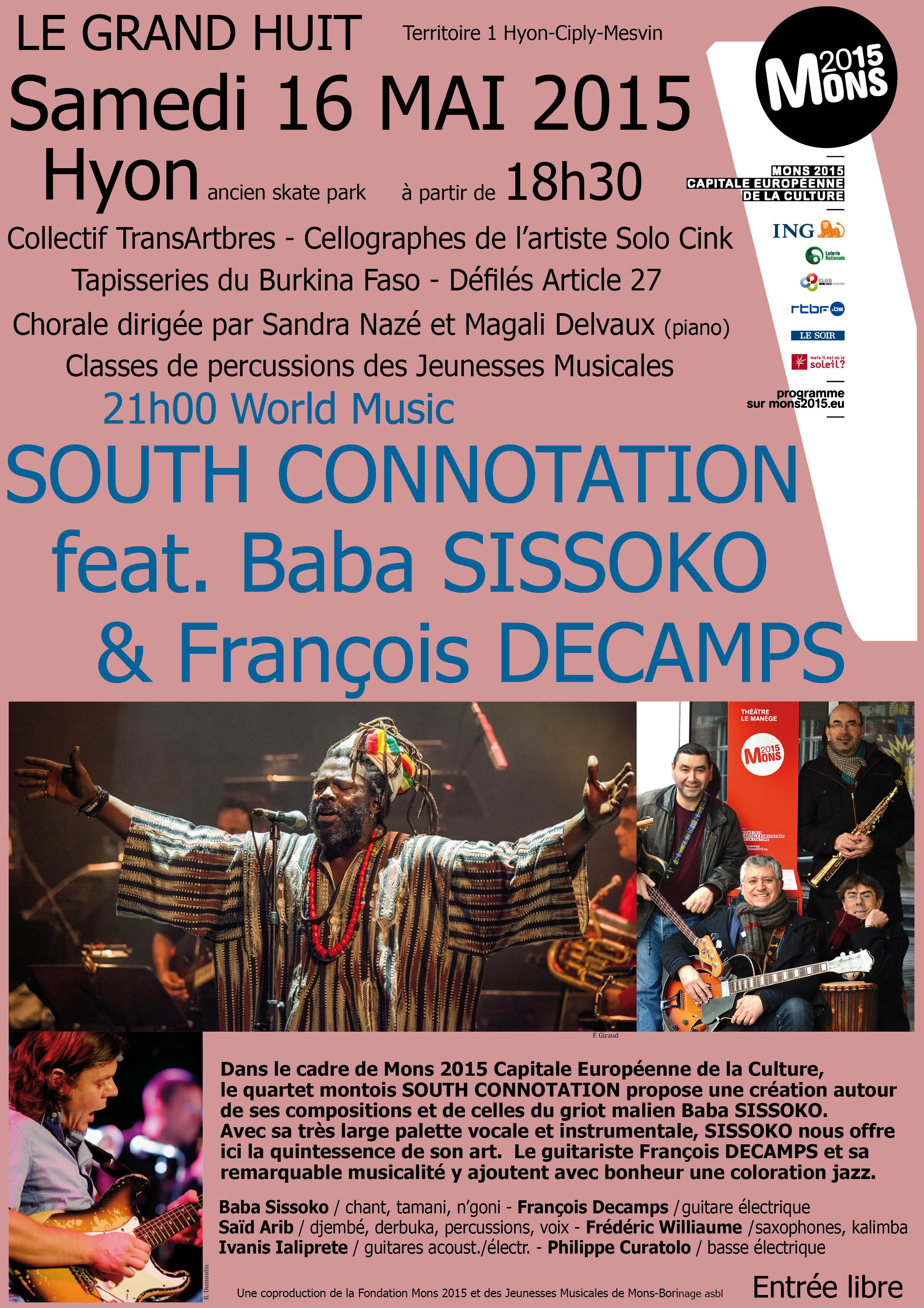Affiche South Connotation feat. Baba Sissoko  FranÃois Decamps mars 2015 3